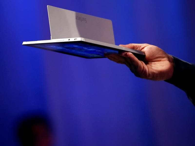Microsoft's Surface 2 is seen during the launch of their Surface 2 tablets in New York. Photo: Reuters / Shannon Stapleton