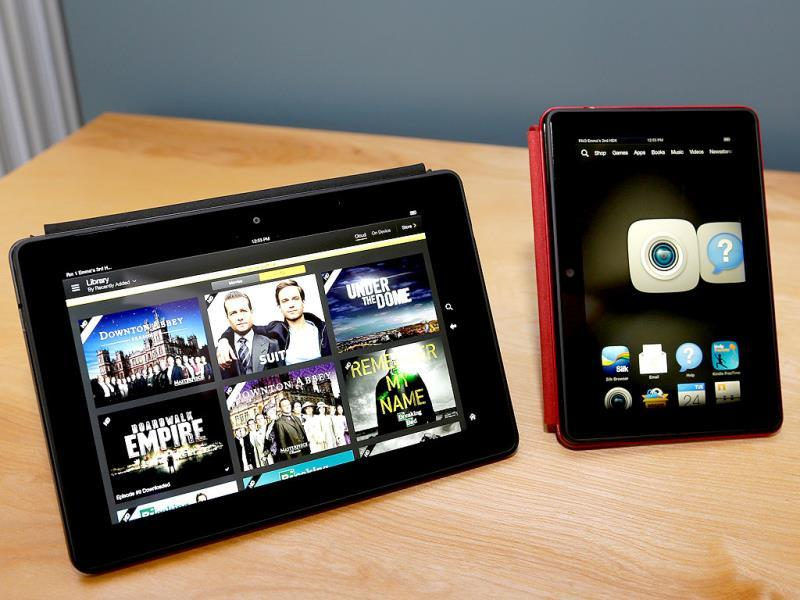 The 8.9-inch Amazon Kindle HDX tablet computer, much faster and lighter than the previous generations, in Seattle. (AP Photo)