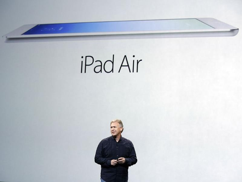 Phil Schiller, Apple's senior vice president of worldwide product marketing, introduces the new iPad Air in San Francisco. (AP photo)