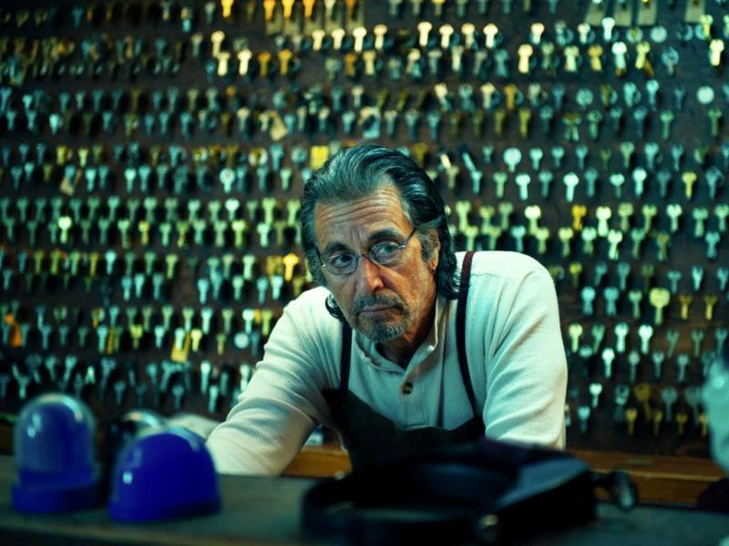 David Manglehorn: This photo released by courtesy of TIFF shows Al Pacino as AJ Manglehorn in a scene from the film, David Manglehorn, directed by David Gordon Green. (AP/Courtesy TIFF)