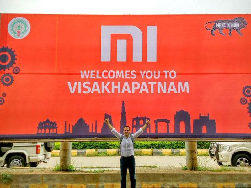 Xiaomi's hoarding outside Vizag airport suggests they may be set to 'Make in India'.
