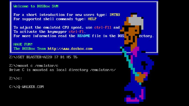 The site runs a Dos emulator (Dosbox) that runs the malicious code as it would have run on a computer in its day