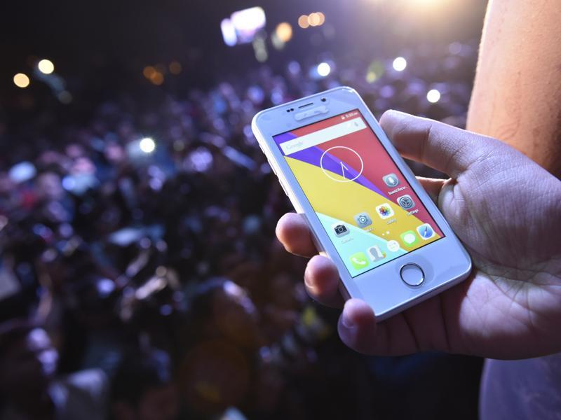 Noida-based Ringing Bells launches Freedom 251 - the cheapest smartphone ever in New Delhi.