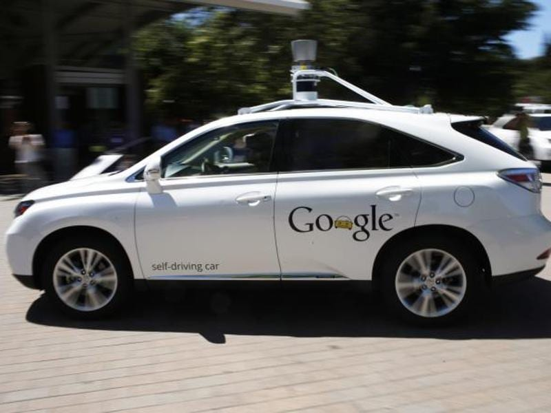 Google's self driving Lexus SUV hit a bus while it was testing on the streets of Mountain View, California