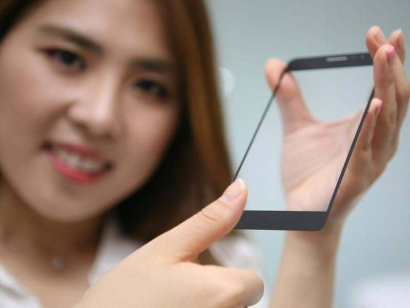 Manufacturers have put them on the rear panel under the cameras, on the power button and on the central button in the front but LG is planning them inside the display of the smartphone