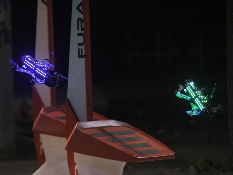 Drone racing is a would-be sport in which men, and a few women, fly remote-controlled drones against competitors at up to 80 miles per hour along looping courses with hairpin curves and drops
