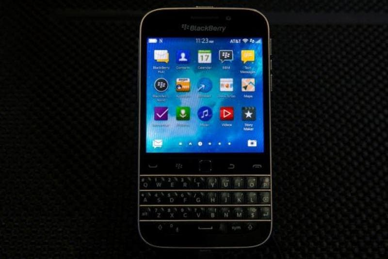 BlackBerry's stock fell more than 4 percent after an executive confirmed the move in a blog post. BlackBerry launched the Classic less than two years ago, hoping it would resonate with customers yearning for a physical keyboard in a world of touchscreens.
