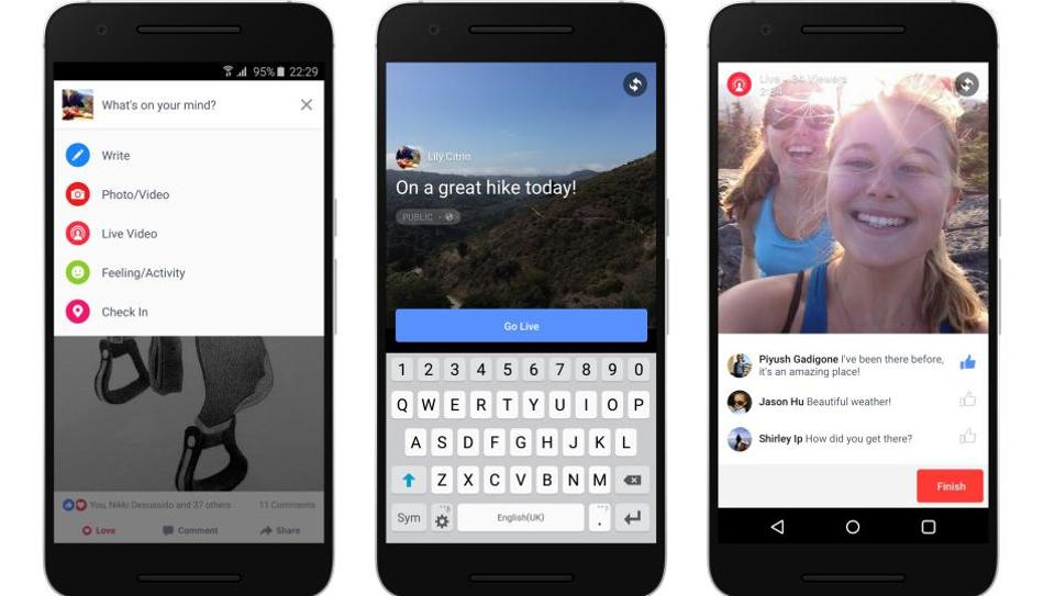 The new feature also offers users the option to go live in their Facebook Story