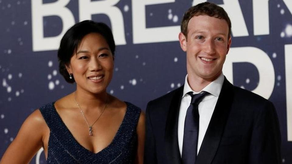 Mark Zuckerberg and Priscilla Chan arrive on the red carpet during the 2nd annual Breakthrough Prize Award in Mountain View, California.