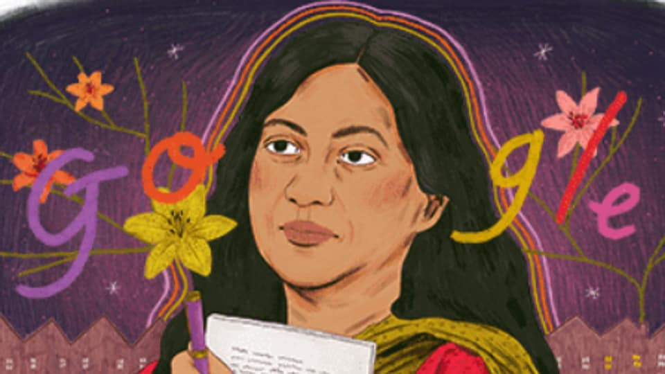 The Google Doodle on Kamala Das has been created by Manjit Thapp.