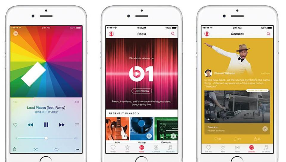 Apple Music was launched in June, 2015