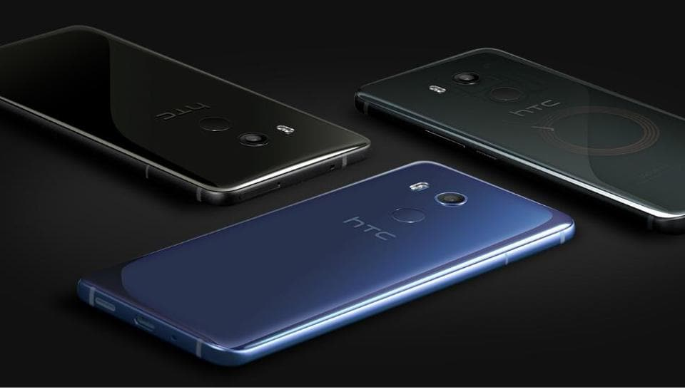 HTC U11+ comes in 'Amazing Silver' and 'Ceramic Black' colours in India