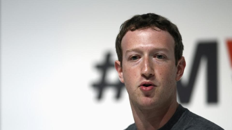 Facebook Chief Executive Mark Zuckerberg attends a keynote presentation event at the Mobile World Congress in Barcelona March 2, 2015.