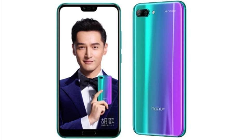 Honor 10 features a 5.84-inch full HD+ display with 19:9 aspect ratio.