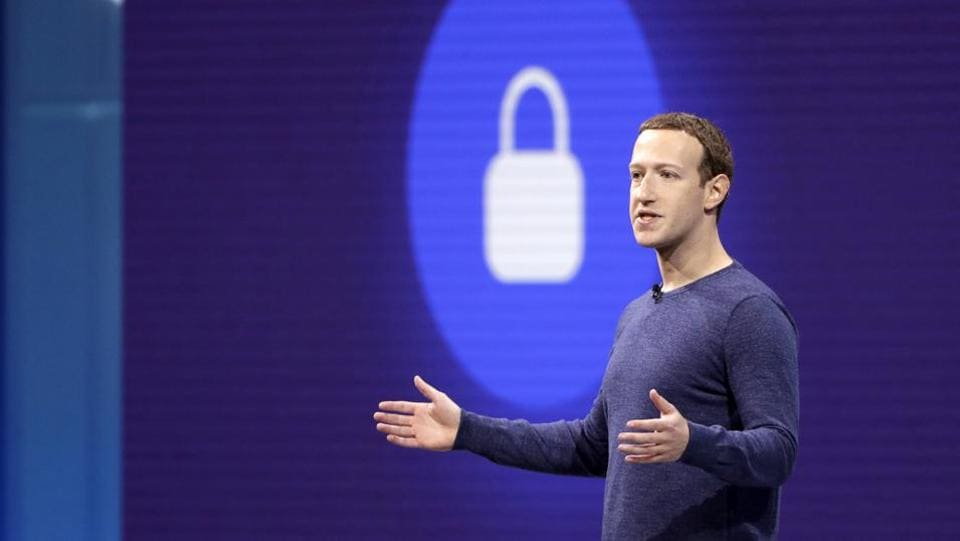 Facebook CEO Mark Zuckerberg makes the keynote speech at F8, tFacebook's developer conference, Tuesday, May 1, 2018, in San Jose, California.