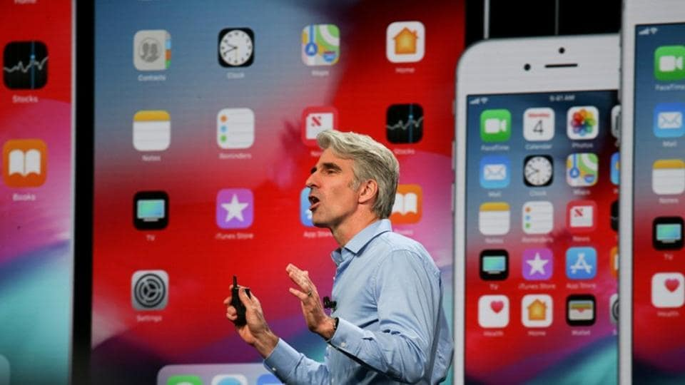 Apple senior vice president of Software Engineering Craig Federighi speaks at the Apple Worldwide Developer Conference (WWDC).