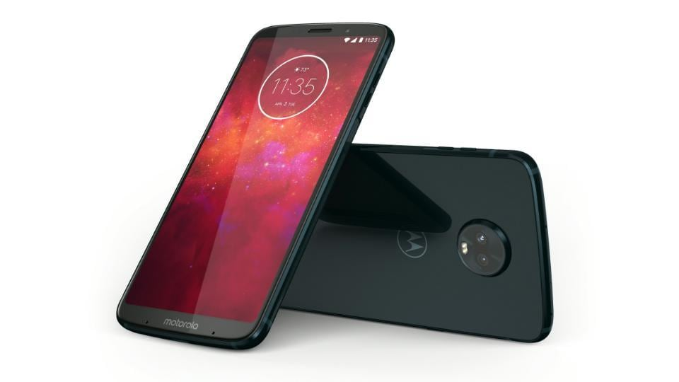 Motorola features an edge-to-edge display with Gorilla Glass wrapped on the front and back.