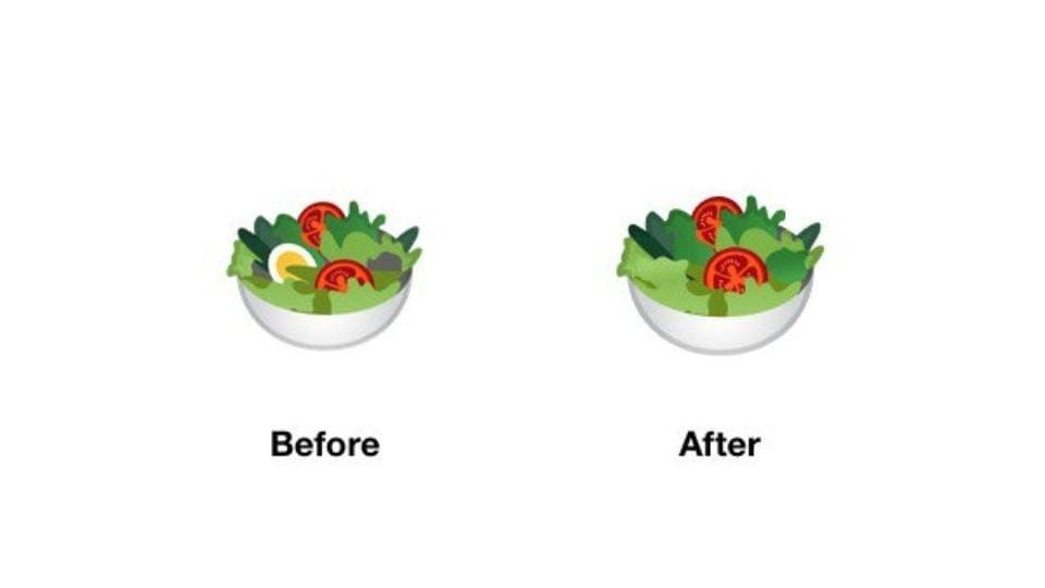 Egg from Google's salad emoji is now gone