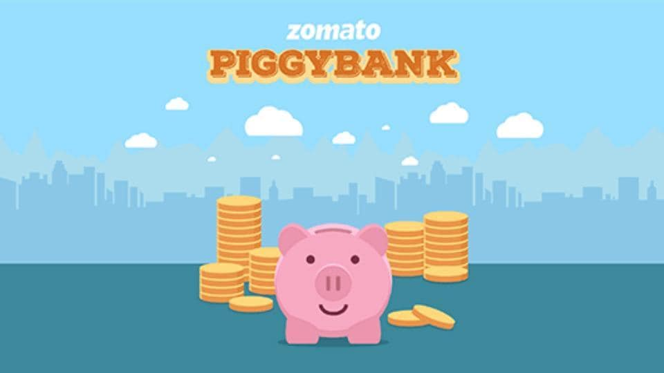 Zomato Piggybank rewards programme lets users earn coins and use it for discounts on orders.