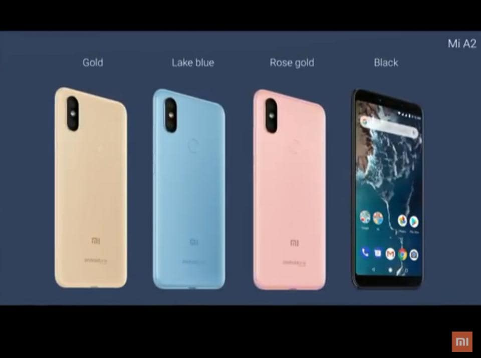Xiaomi Mi A2 colour options.