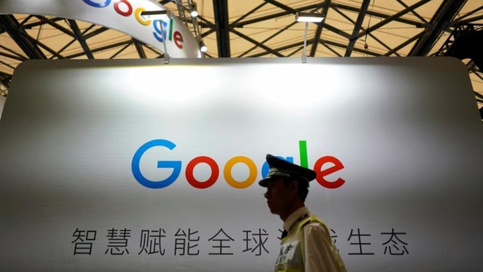 A Google sign is seen during the China Digital Entertainment Expo and Conference (ChinaJoy) in Shanghai, China August 3, 2018. REUTERS/Aly Song