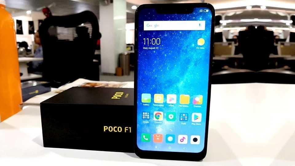 Poco F1 features a 6.18-inch Full HD+ display with 18.7:9 aspect ratio.