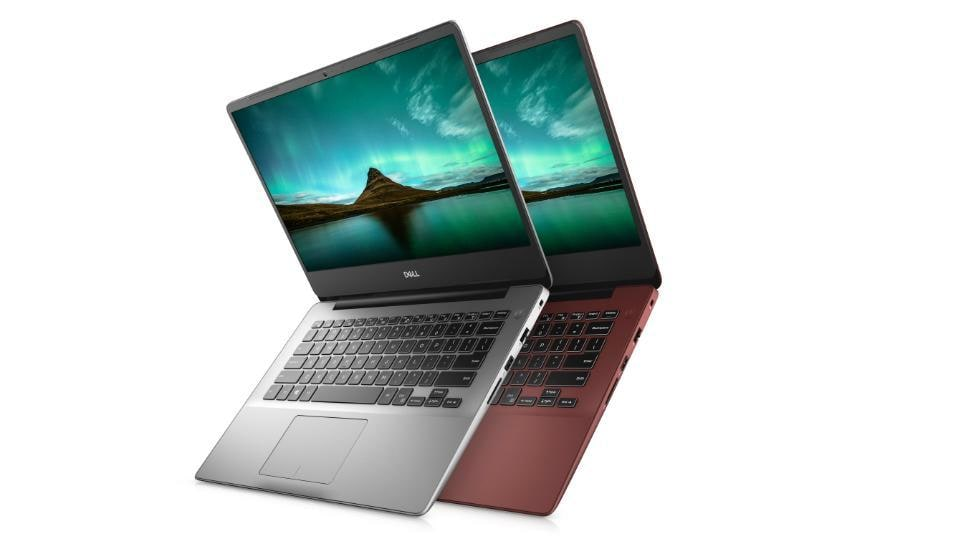 Dell Inspiron 15 5480 in platinum silver and burgundy.