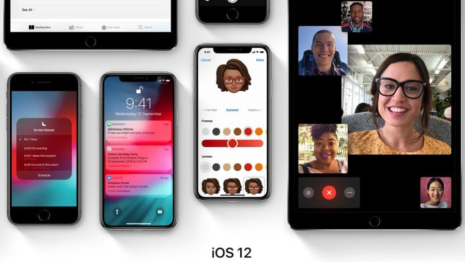 iOS 12 brings group FaceTime with up to 32 people at once.