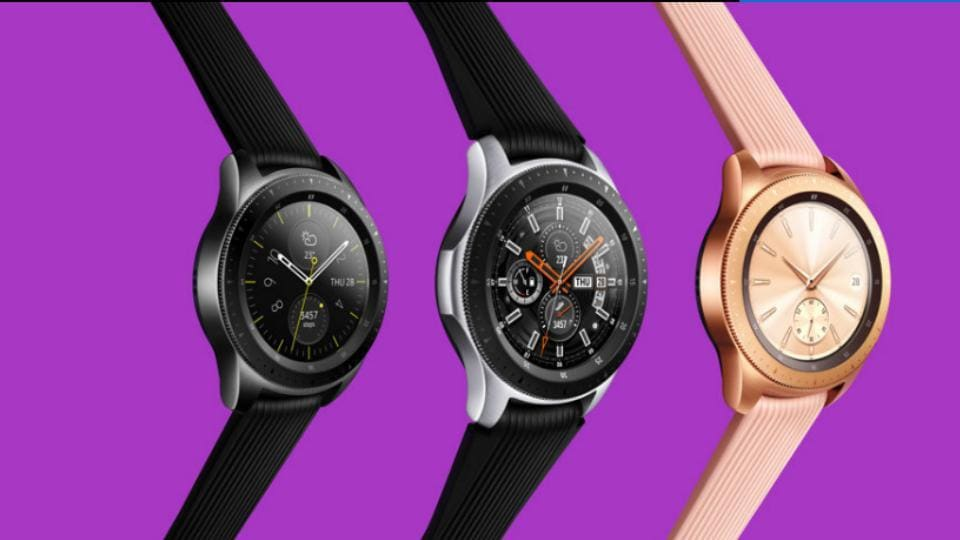 Samsung Galaxy Watch comes in two sizes of 42mm and 46mm.