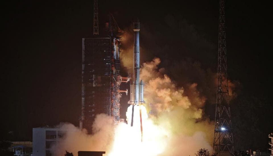 Two BeiDou-3 satellites via a single carrier rocket take off at the Xichang Satellite Launch Center, Sichuan province, China November 19, 2018.