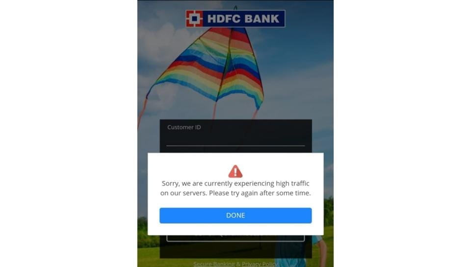 HDFC's new app is down since its launch on November 25