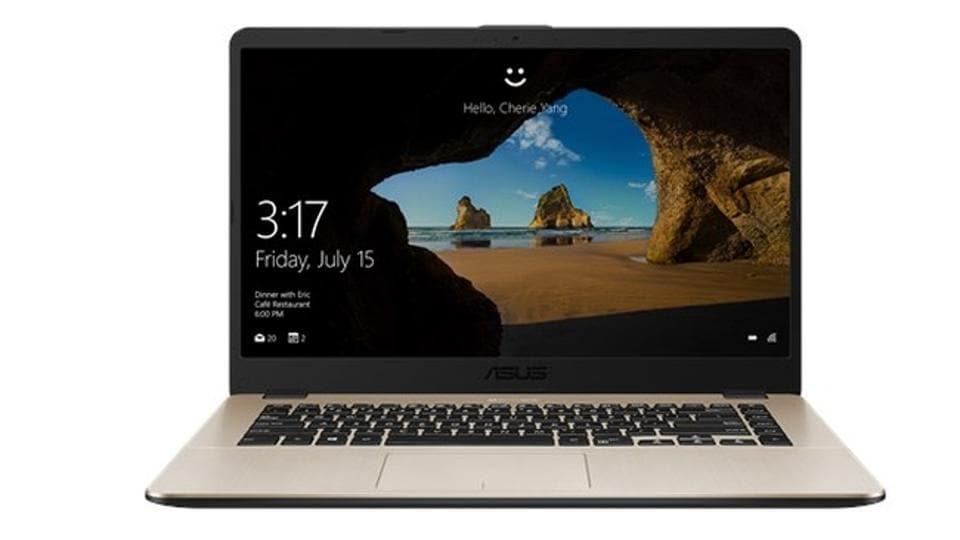 Asus VivoBook 15  runs on Windows 10 Home