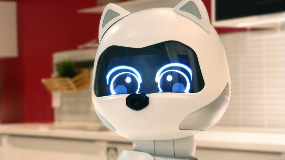 Kiki looks like Eva from the movie Wall-E and has cat ears.