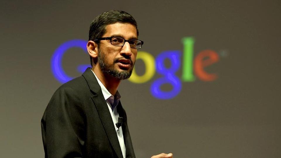 "Sundar Pichai said Google's 30% cut on app sales is the ""industry standard."""