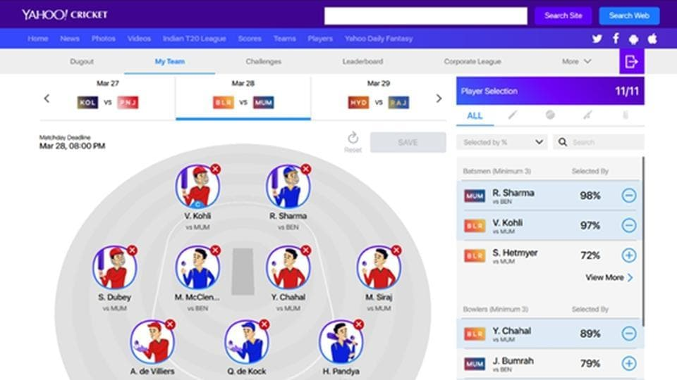 Yahoo Cricket Daily Fantasy Game launched in India