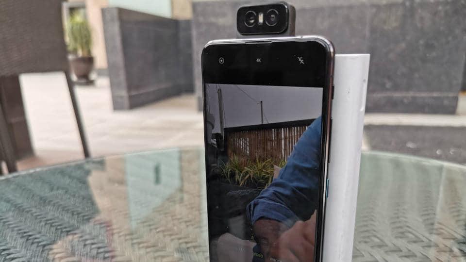 Asus Zenfone 6 with flip cameras.
