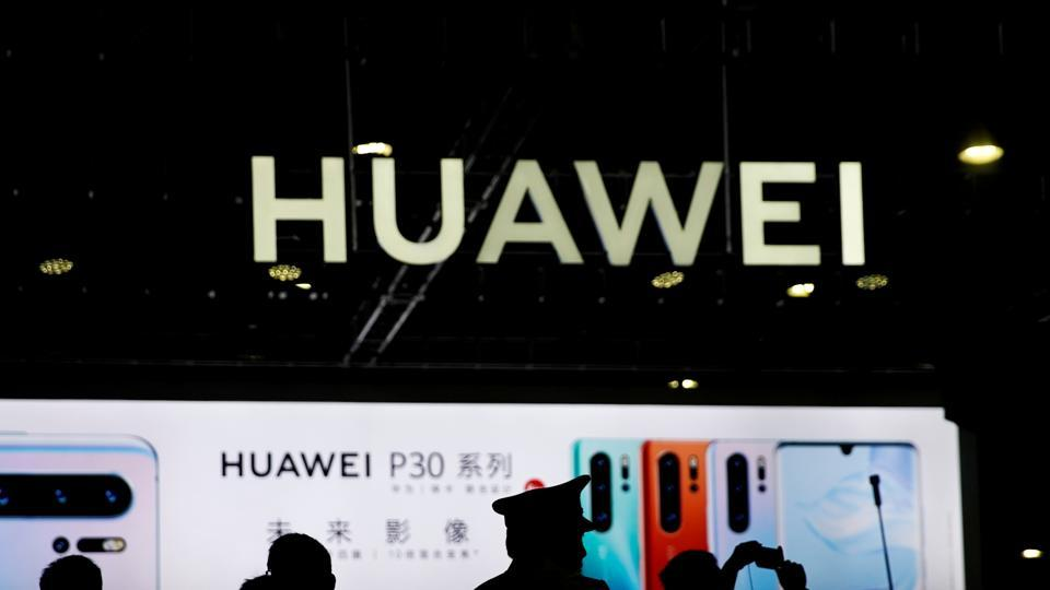 A Huawei company logo is seen at CES (Consumer Electronics Show) Asia 2019 in Shanghai, China June 11, 2019.