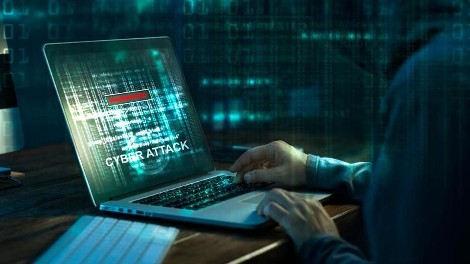Cyber attack in cyberspace concept.