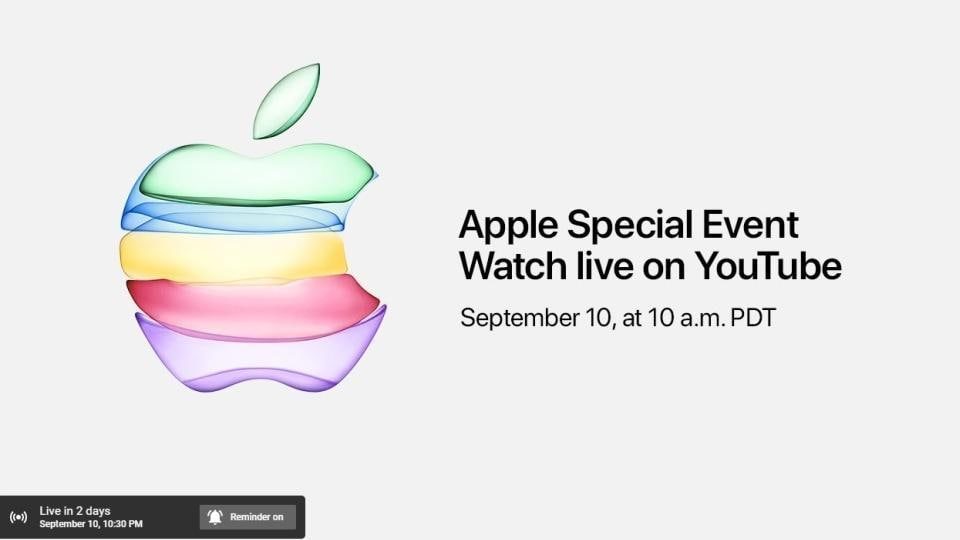 Apple iPhone 11 launch to be broadcast live on YouTube