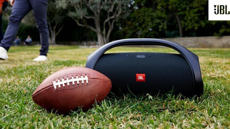 JBL Boombox Bluetooth speaker.