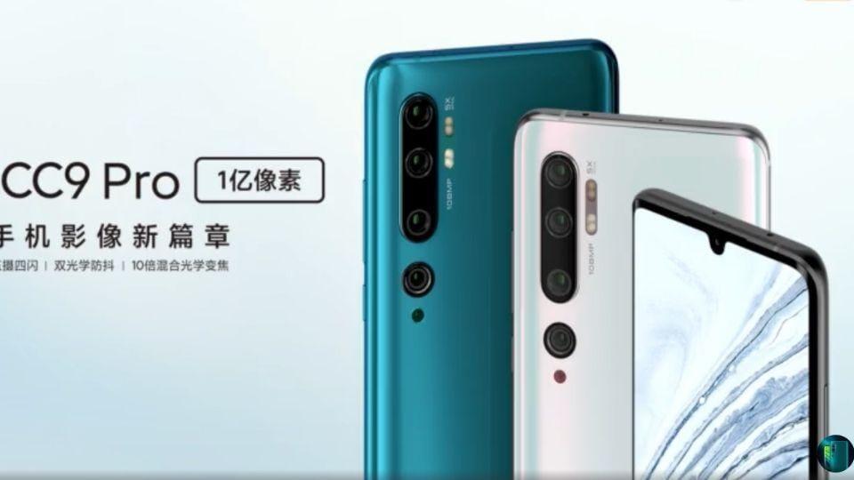 Xiaomi Mi CC9 Pro 108MP camera phone.