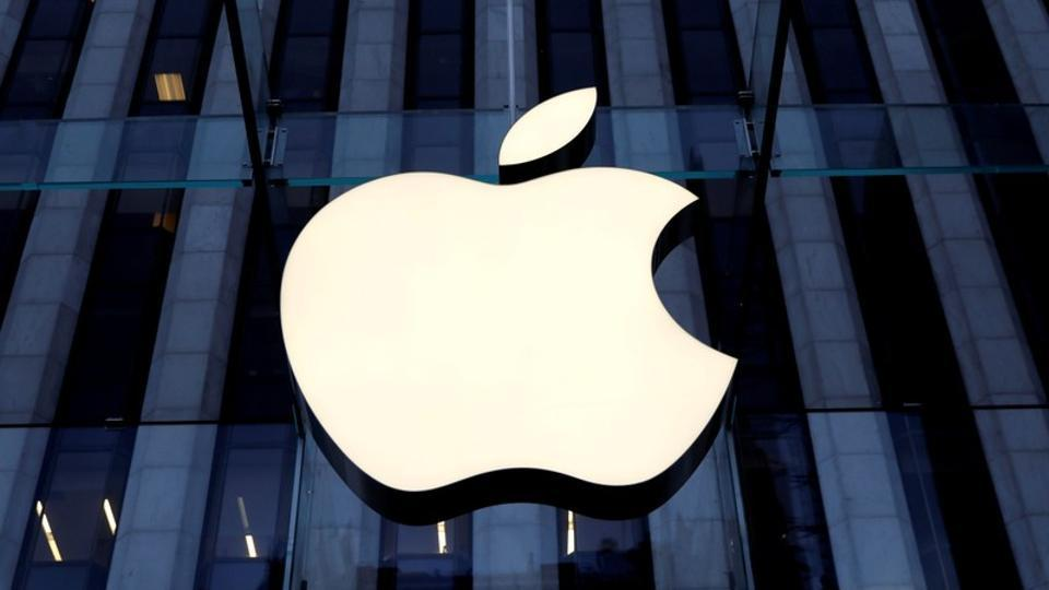 The Apple Inc. logo is seen hanging at the entrance to the Apple store on 5th Avenue in Manhattan, New York, U.S., October 16, 2019.