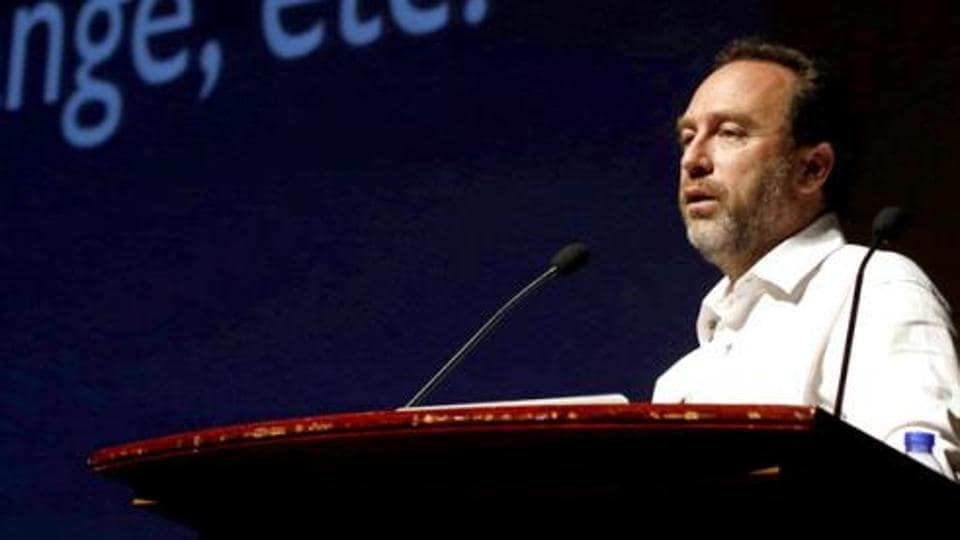 Wikipedia co-founder Jimmy Wales attends the international Wikimedia conference in Hong Kong.