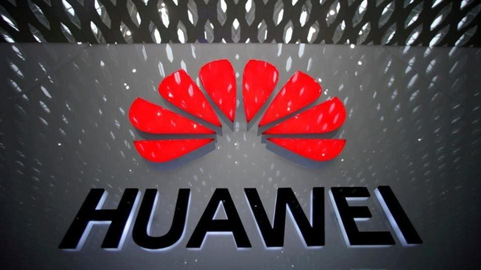 A Huawei company logo is pictured at the Shenzhen International Airport in Shenzhen, Guangdong province, China July 22, 2019. REUTERS/Aly Song/Files