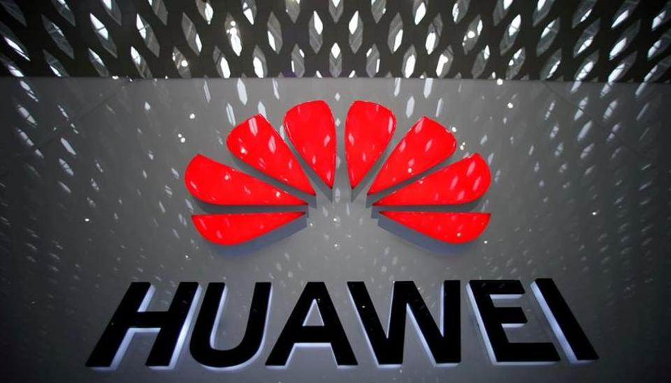 A Huawei company logo is pictured at the Shenzhen International Airport in Shenzhen, Guangdong province, China July 22, 2019.