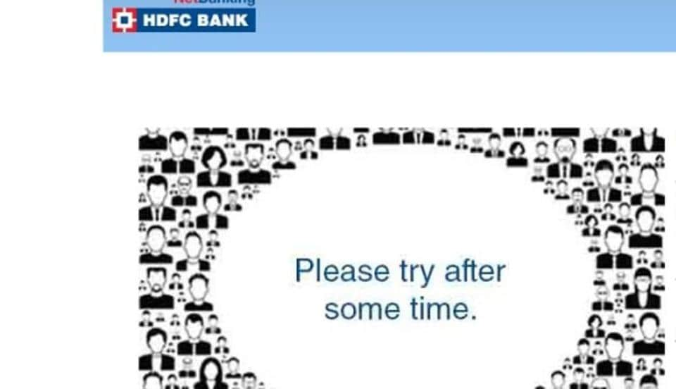 hdfc net banking app issue