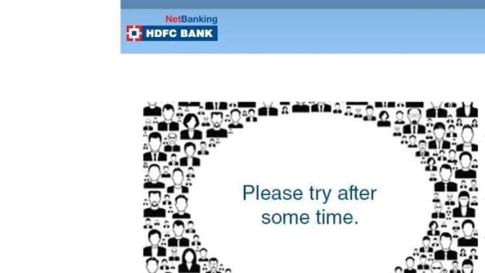HDFCBank net banking outage.
