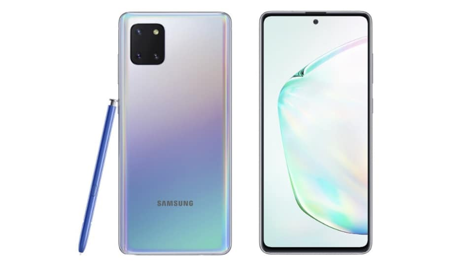 Samsung launched the Samsung Galaxy Note10 Lite (pictured above) and the Samsung Galaxy S10 Lite today.