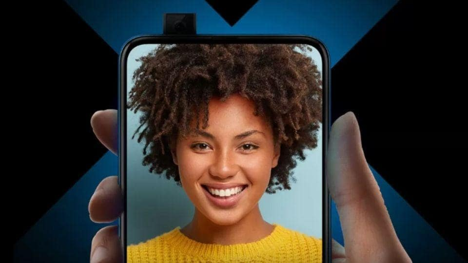 Honor 9X features a pop-up selfie camera.