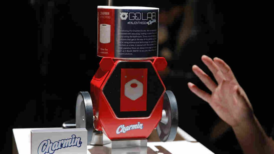 Besides the flying cars, the massive TVs that rotate to show mobile videos, foldable PCs there are also trash cans that change their own bags and robots that fetch you toilet paper at CES 2020